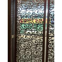 广州酒店、餐厅雕花金属屏风厂家定制批发