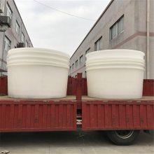 直销促销1200L叉车桶叉车底塑料桶 敞口调浆桶塑料储桨桶