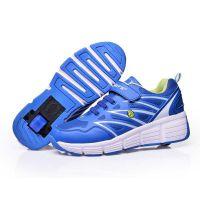 工厂供应WHEELY'S品牌暴走鞋 单轮自动隐形按钮 现货批发 订单生产