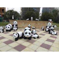 佛山名图玻璃钢熊猫雕塑厂家 卡通雕塑厂家