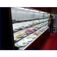 舟山自助火锅店点菜柜 火锅自选菜品冷藏展示柜 自助餐风幕柜定做价格