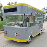 定制凯信电动四轮餐车电动小吃车早餐车奶茶车移动餐 车多功能小吃车