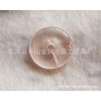 水晶工艺品 挂件 水晶批发 30MM 粉水晶平安扣