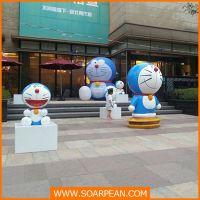叮当猫、玻璃钢卡通雕塑 动漫公仔造型雕塑 广场摆饰 定制
