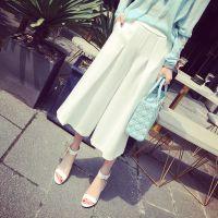 小银子2015夏装新款欧美街拍款洋气显瘦阔腿裤K4242