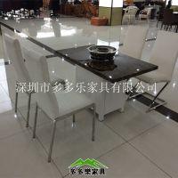 供应钢化玻璃火锅台 优质玻璃面火锅餐桌
