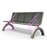 凯里不锈钢户外椅 昆明小区公共座椅 昆山钢木公园椅