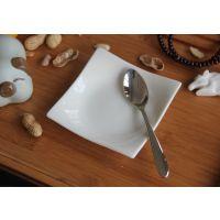出口外贸新骨瓷餐具四方碟小菜碟泡菜碟酱料碟蛋糕碟