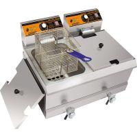 汇利双缸双筛电炸炉HY-902EX电炸锅油炸炉单缸商用炸薯条炸鸡专用