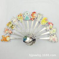 皇晶不锈钢餐具 儿童卡通餐具套装 勺子 12生肖勺子 不锈钢勺子