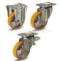 进口脚轮RE.F5-H 适用于中等程度负重的带钢板支架注模聚氨酯脚轮