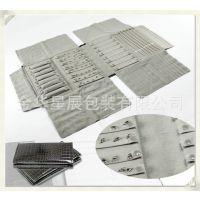 专业定做厂家直销S469S 鳄鱼纹皮革首饰包装袋 PU 绒布卷包
