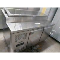 双门风冷不锈钢三文治保鲜工作台 商用披萨冷藏柜 厨房雪柜批发