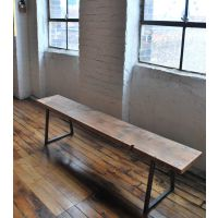 LOFT美式乡村风格实木家具复古铁艺餐桌椅长条凳椅子 坐凳换鞋凳
