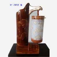 年年有鱼创意家居用品 复古工艺品 酒店茶楼灯具代理批发摆件