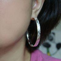 欧美大牌镀925银耳圈批发 速卖通热卖时尚女耳饰夸张大耳圈耳环