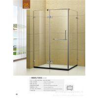 厂家专业生产豪华高档简易不锈钢铰链式方形淋浴房