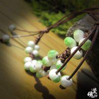 陶瓷饰品 腊绳手工编织 中国民族风格碧绿色调 畅销首饰 手串批发