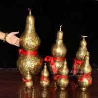 开盖铜葫芦15cm60公分大号带盖镇宅八卦纯铜葫芦手工风水摆件厂家