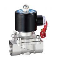 电磁阀水阀 2W320-32B DN32水管用304不锈钢电磁阀门 气阀GEERTE