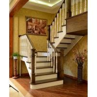 品家家用实木楼梯上海楼梯 楼梯室内简约实木立柱 品家北美情怀