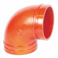 批发水暖管件  沟槽管件90°弯头