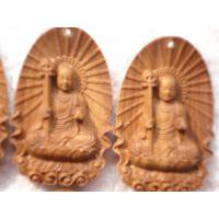 供应新山香檀香地藏菩萨挂件木雕,高档艺术品,檀香行家