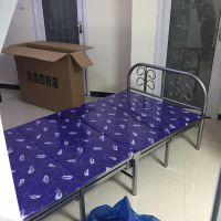 郑州来往到家1.2米宽两折四折折叠床,公司午休床,送货安装
