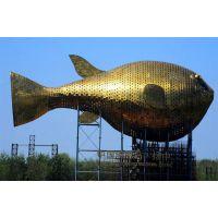 原著厂家可定制17米黄色大型河豚铸铜雕塑,海洋动物雕塑