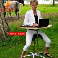 萨利SALLI马鞍椅 一体移动办公电脑桌椅 可升降旋转预防脊椎变形