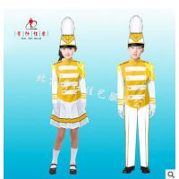 新款儿童均码红色校鼓乐队服 仪仗队表演服 管乐服定制 贵仕佳艺
