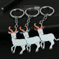 创意羊年必备金属生肖山羊汽车钥匙扣钥匙链情侣男女士包包扣挂件