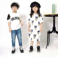 2015秋季寒豆handoo品牌童装新款韩版儿童字母墨染印花打底t卫衣
