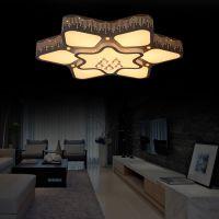 谦之雅照明现代智能调光LED铁艺平板灯方形客厅灯圆形卧室灯批发