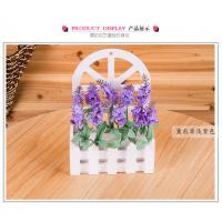 薰衣草仿真 木栅栏花套装 家居装饰摆件 壁挂式干花假花客厅花卉