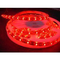 供应5050红光软灯条 12V白板 滴胶防水IP65防水 红光软灯带 3528灯带