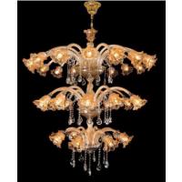 CVMA厂家直销 三层客厅吊灯欧式花瓣水晶灯高档奢华蜡烛水晶吊灯6055C白炽灯