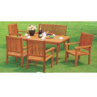 订做实木带伞小区休闲桌椅谐诚户外家具