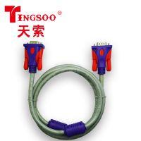 TINGSOO/天索vga 3+6显示器连接线双色电视电脑音频线