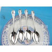 不锈钢厂家直销 水仙勺子 餐匙  快餐饭堂用品 迷你型餐勺