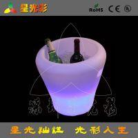 深圳厂家直销LED七彩发光冰桶 喜来登酒店宴会活动冰桶