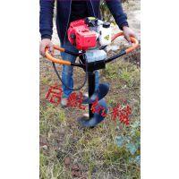启航牌内蒙古大型挖坑机 新型植树打洞机 双钻头挖坑机