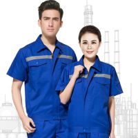 青岛工作服订制|市南区工作服加工|食品行业短袖纯棉耐穿工作服