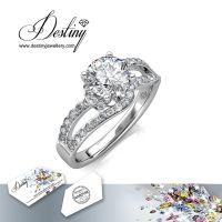 戴思妮 水晶戒指 采用施华洛世奇元素 精美时尚 女士饰品 厂家直销