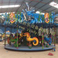 广场游乐设备好产品郑州宏德游乐设备生产销售海洋旋转木马价格