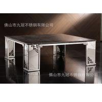 钢化玻璃五金家具 招待所不锈钢休闲家具