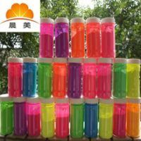深圳晨美供应荧光颜料 宝安产业带 cm-123-124短效色粉塑料荧光粉