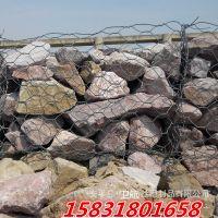 桥梁加固护岸铅丝笼网卷,pe覆塑厚镀锌铅丝石笼
