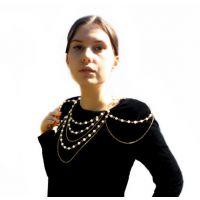 外贸 欧美热销潮流时尚性感比基尼珍珠腰链腰饰身体链C0136