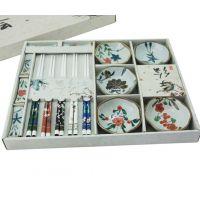 碗筷套装 礼品碗筷套装 陶瓷碗筷套装 手工陶瓷礼品 批发定制
